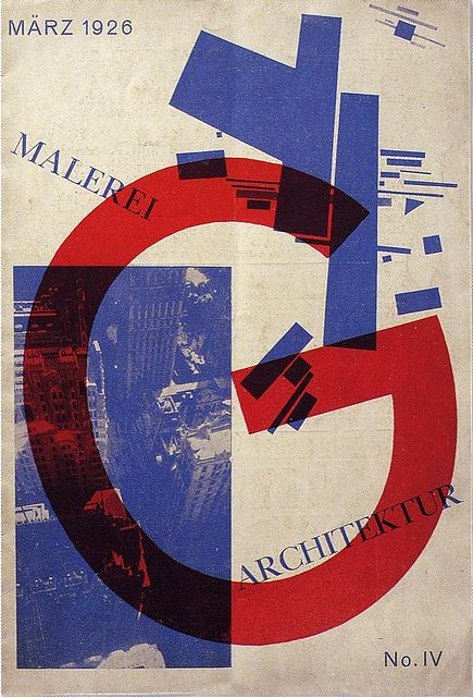 """By Kasimir Malevich, 1926, Cover for the German periodical """"G"""". (G)"""