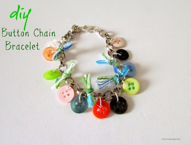 Button Chain Bracelet