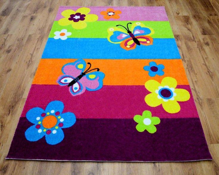 Kolorowy dywan na podłogę z motywem natury