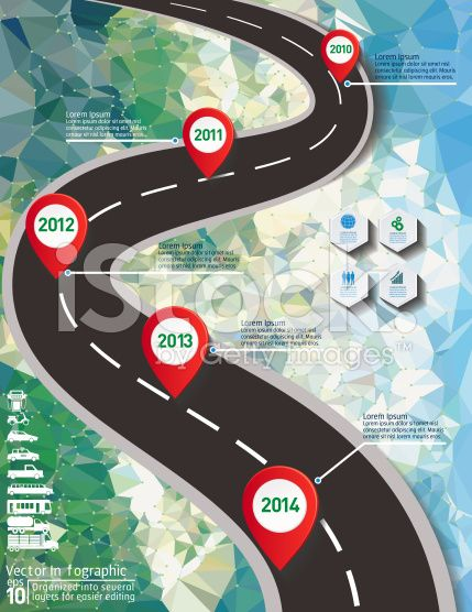 Stylish Roads Infographic On A Cement Texture Background royalty-free stock vector art