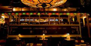 Old Spaghetti Factoryin Vancouver, B.C., Canada  -a conductor died in the underground railway track underneath the eatery