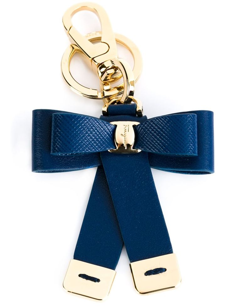 Key Chain for Women, Key Ring, Pacific Blue, Leather, 2017, One size Salvatore Ferragamo
