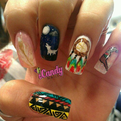 some may find this to be appropriation, if the owner of the nails isn't  Native. The art is amazing, however. - 100 Best Native American Nails Images On Pinterest American