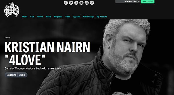 """Ministry of Sound Premieres Kristian Nairn's New Single """"4Love (feat. Salt Ashes)"""" -  http://www.radikal.com/2015/09/11/ministry-of-sound-premieres-kristian-nairns-new-single-4love-feat-salt-ashes/ -  Today, Kristian Nairn released his new single """"4Love,"""" which features the vocals from label-mate Salt Ashes. """"4Love"""" is the follow up single to Nairn's Radikal Records debut """"Up/Beacon (feat. Leanne Robinson),"""" which received rave revi"""