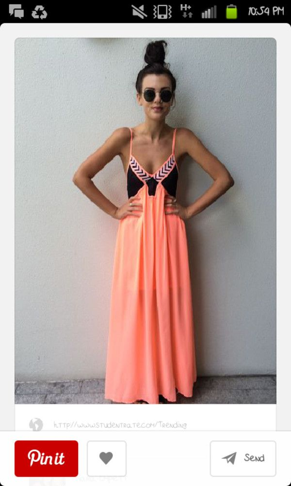 Black and orange sundress