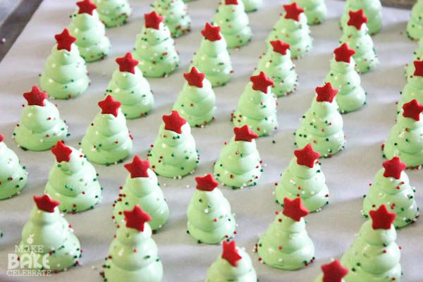 Christmas tree meringues! She makes it look easy! I wanna try pumpkins soon.