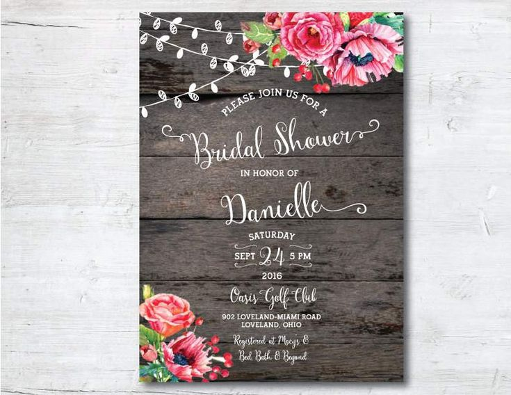 Exceptional Free Wedding Shower Invitation Templates