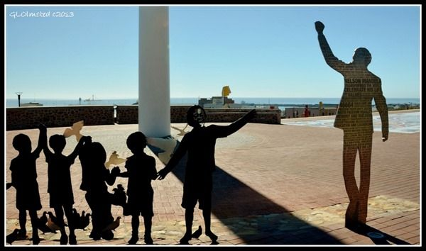 The Voting line, one piece of art along the Route 67 in Port Elizabeth. http://geogypsytraveler.com/2013/12/13/foto-friday-fun-37/