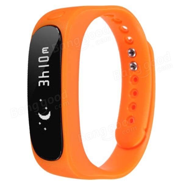 EU Direct   Bluetooth 4.0 Smart Bracelet Sport Healthy Wrist Watch Pedometer