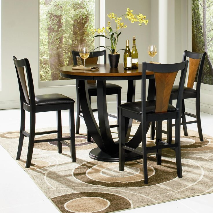 Off Boyer Counter Height Table by Coaster Furniture  The counter height  dining set has simple style that will match any home  in a rich black and  cherry  41 best Dining Room images on Pinterest   Dining room furniture  . Dining Room Sets Raleigh Nc. Home Design Ideas