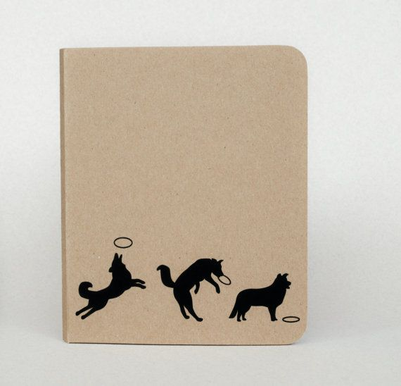 Border Collie Silhouette Notebook Small notebook by NaturesPals
