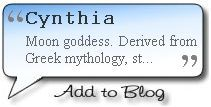 the name cynthia means | Meaning of Cynthia