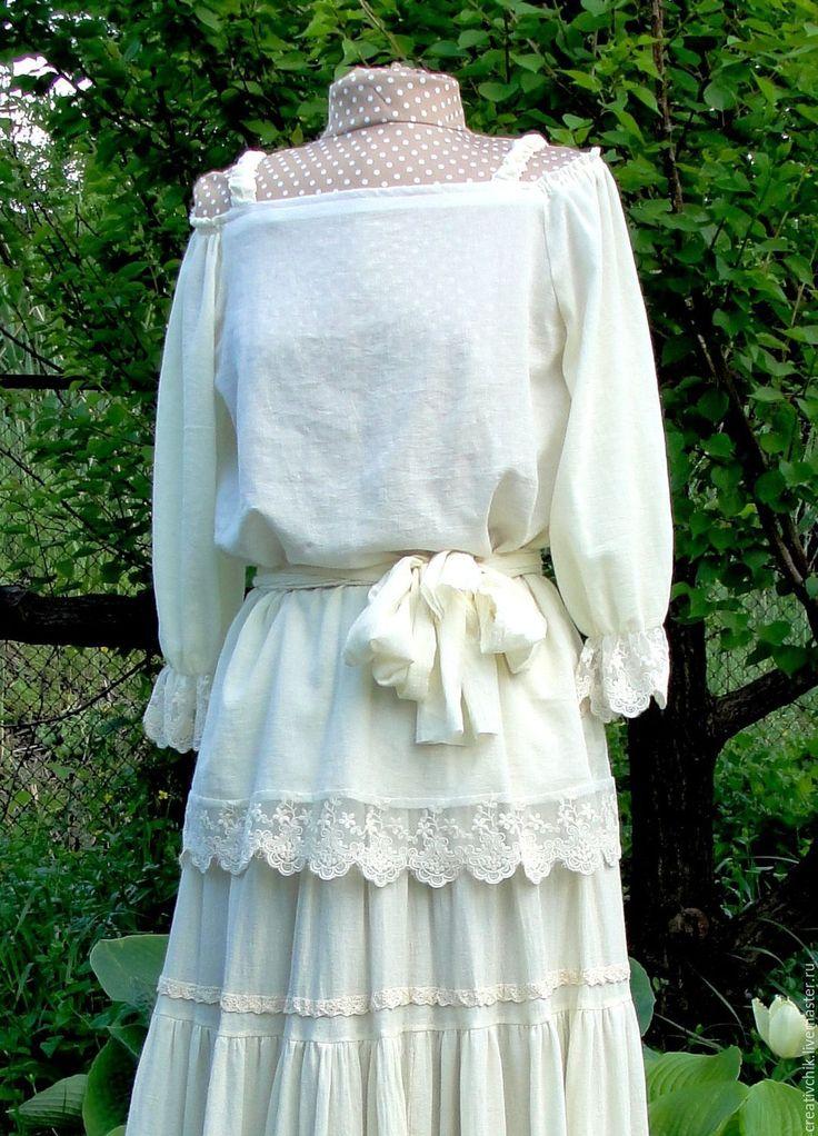 Купить Блузка летняя с кружевом - блузки, женские блузки, купить блузку бохо стиль
