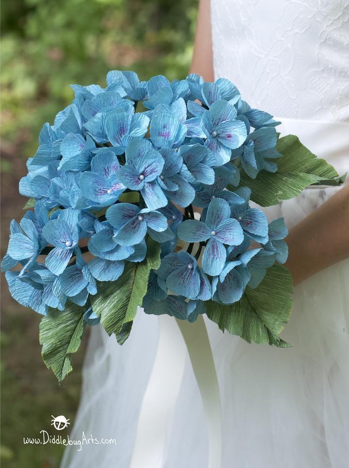 Crepe Paper Hydrangea Bouquet Crepe Paper Flowers Tutorial
