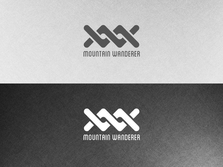 Mountain Wanderer logo in dark and lignt