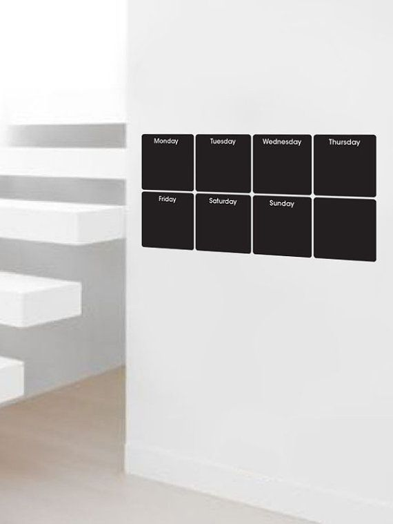Hey, I found this really awesome Etsy listing at http://www.etsy.com/listing/61189615/small-weekly-chalkboard-calendar-vinyl