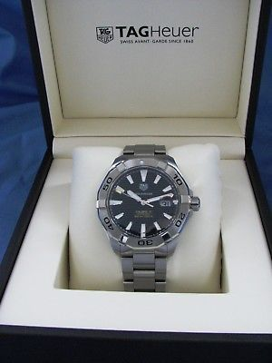TAG HEUER AQUARACER 300M AUTOMATIC BLACK DIAL SS BAND CALIBRE 5 WATCH SWISS MADE