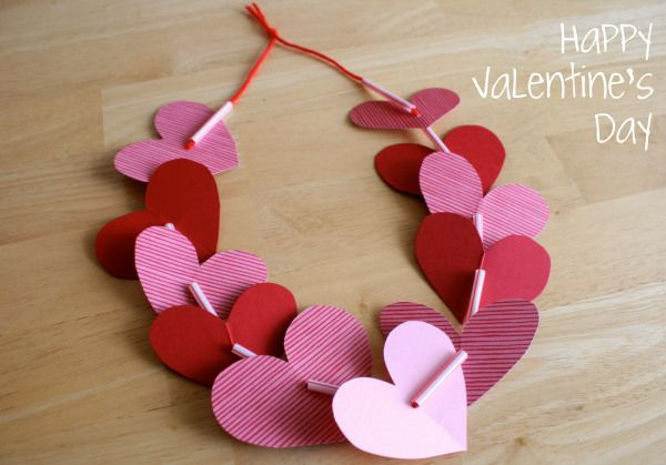 Valentine Heart Leis | #DisneySide Party | Pinterest | Valentines, Valentine day crafts and Valentine crafts