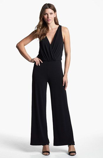 Karen Kane Palazzo Jumpsuit available at #Nordstrom. Fantastic piece!