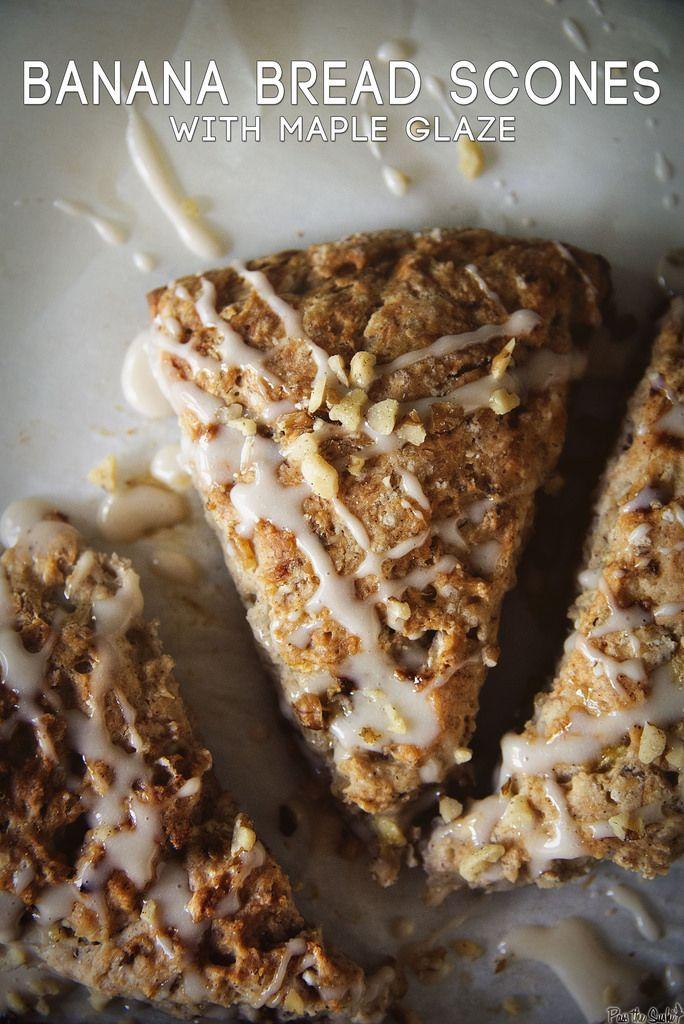 the sushi banana bread scones with maple glaze banana bread scones ...