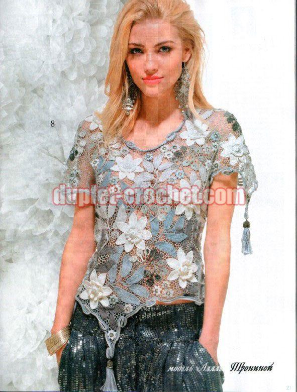 May 2014 Zhurnal MOD 577 Russian crochet n knit patterns
