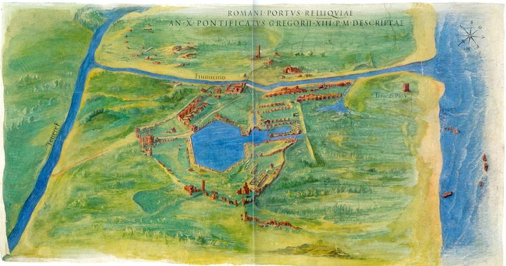 A view of the actual ruins of Portus in 1582