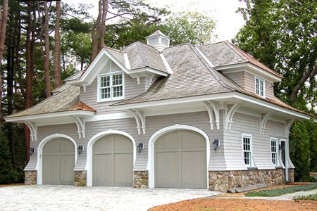 445 best carports garages images on pinterest barn for Pool house plans with living quarters