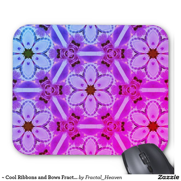 ~ Cool Ribbons and Bows Fractal ~ Mouse Pad