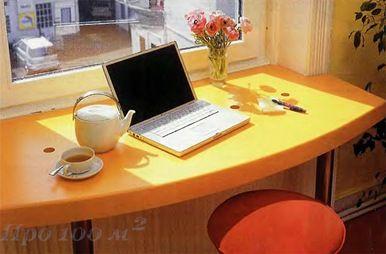маленькая квартира, подоконник, письменный стол, своими руками