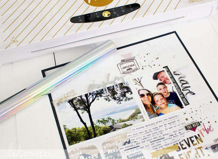 How to use the Minc to foil foam stickers by Kim Jeffress for @heidiswapp