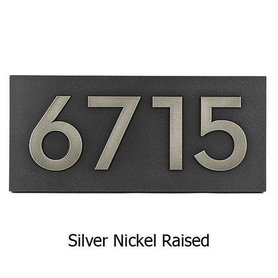Modern Neutraface Address Plaque 15.5 x 7 by AtlasSignsAndPlaques, $196.00