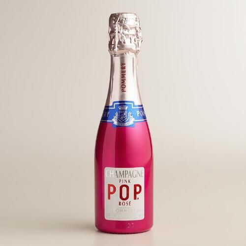 One of my favorite discoveries at WorldMarket.com: Pommery Champagne Pink Pop, 187ml