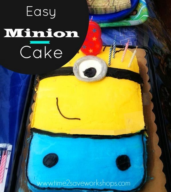 Minon cake | easy decorating | no special cake pan | fun party cake