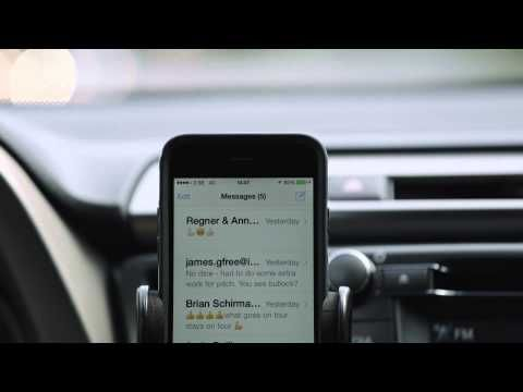 """Very clever ad! I """"heard"""" what you did there! - Toyota - A Sirious safety message #Siri #iPhoneUsers"""