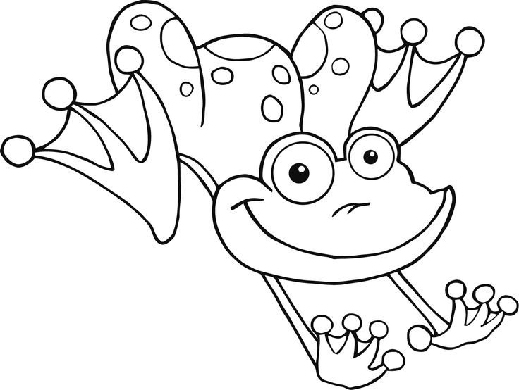 Coloring Pages Of Frogs For Kids