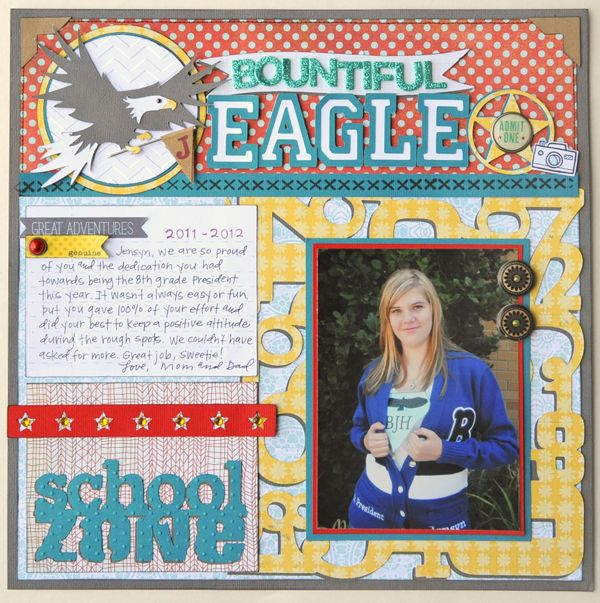 Create a layout with your school spirit! #Cricut: Galleries, Scrapbook Layouts, Schools, Eagles, School Layouts, Scrapbooking Layouts School, Photo