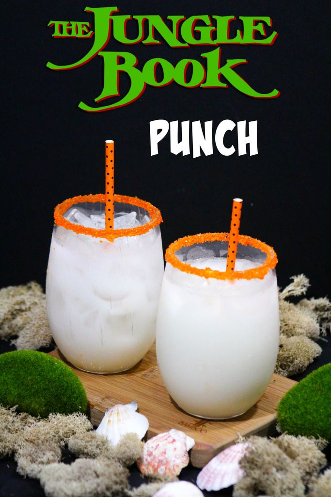 Get kids excited about the live-action Jungle Book movie with a themed movie night featuring our coconut punch virgin drink for kids!