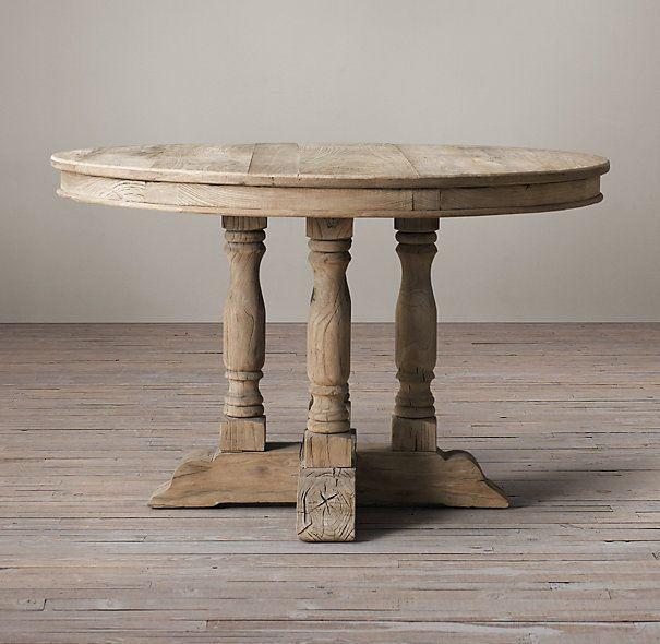 17 mejores ideas sobre mesas redondas pintadas en - Mesa comedor redonda madera ...
