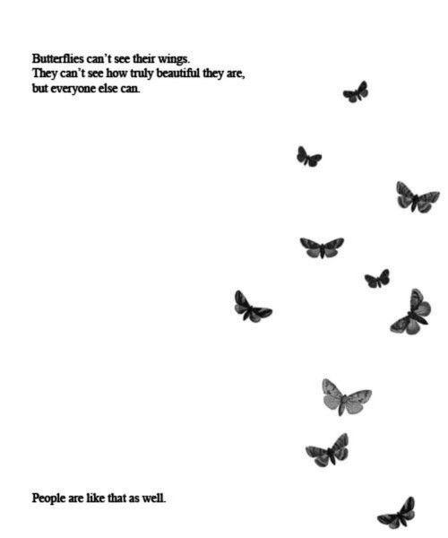 People like butterflies