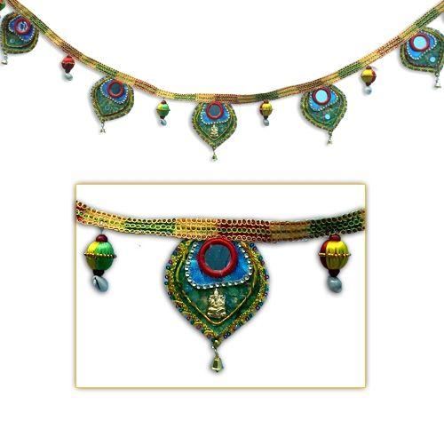 Truly Auspicious Bandanwaar - Door Hanging,Indian Gifts Portal