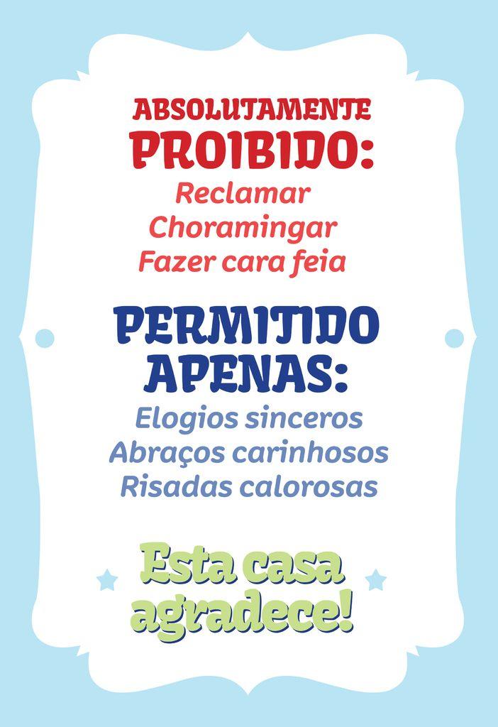 Poster Frase Absolutamente Proibido - Decor10