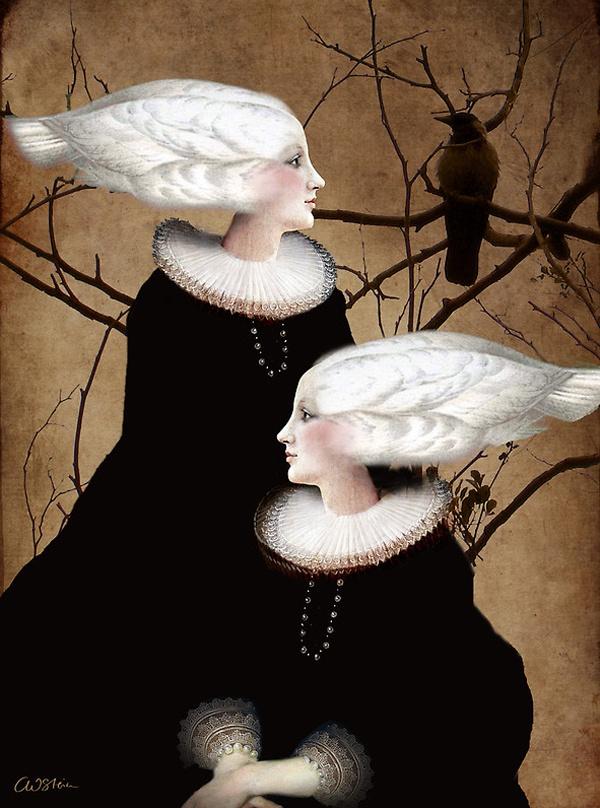 Soul sister ~ Catrin Welz-Stein: Catrin Welz Stein, Catrin Arno, Surrealism, Illustration, Catrinwelzstein, Bycatrin Welzstein, Artcatrin Welzstein, Catrin Welzsteinx, Soul Sisters