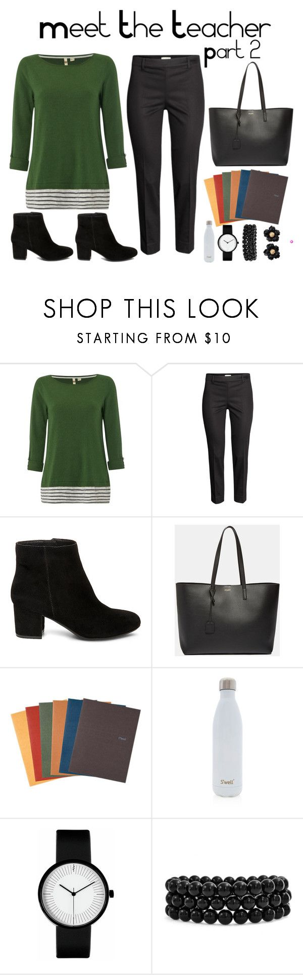 Meet the Teacher Contest Entry by novascotias4ever on Polyvore featuring White Stuff, H&M, Steve Madden, Yves Saint Laurent, Bling Jewelry, Mead, S'well, nsfashion, nsschool and Danielas5KContest