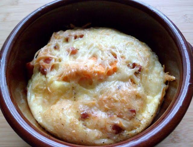 Les Crocs du Loupinet : Gratin soufflé de patate douce aux lardons