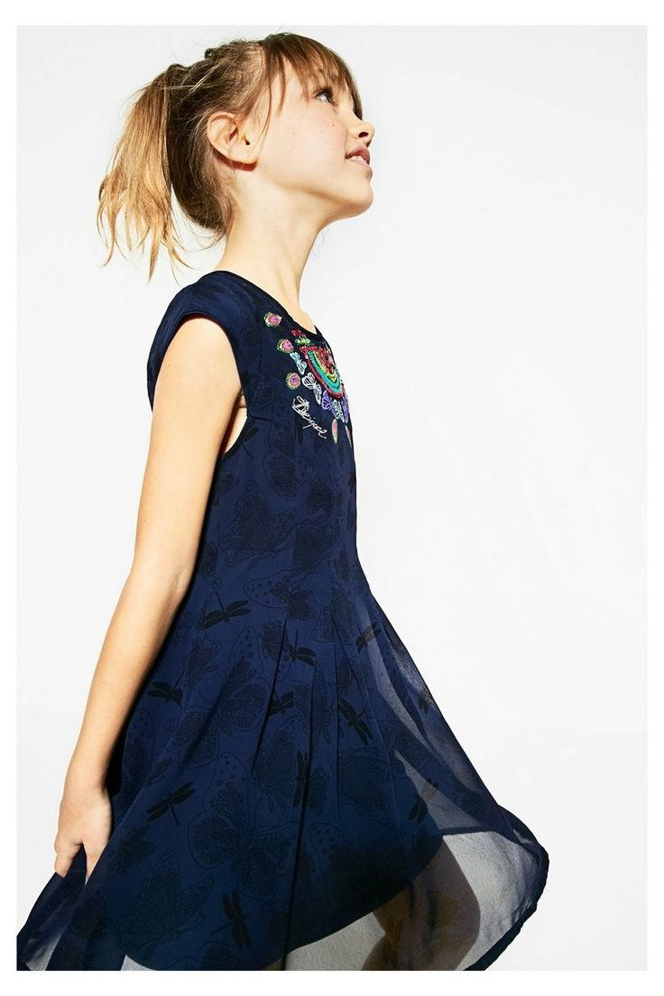 Robe rayure desigual bleu