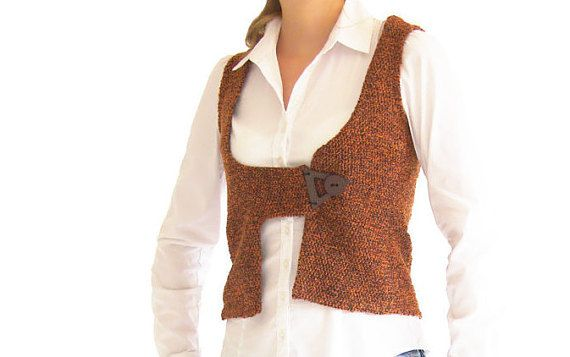 Giacca senza maniche arancione | | Cardigan senza maniche | | Top in lana inverno | | Made in Israele