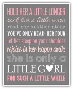 HOLD HER a little longer print personalized by ThePrintsCess