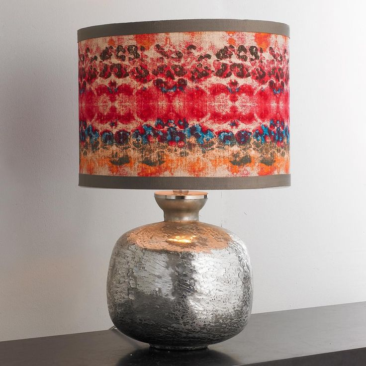 etched mercury glass jar table lamp - Mercury Glass Lamps