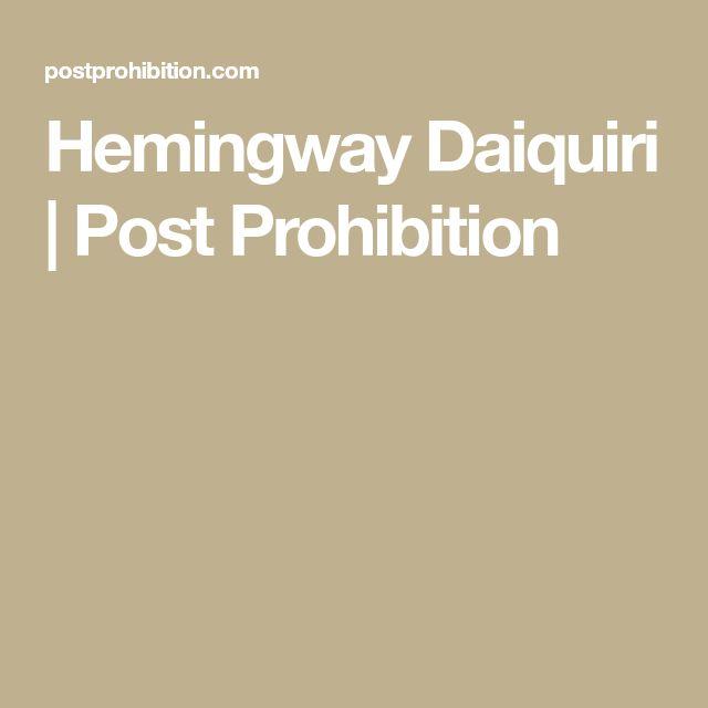 Hemingway Daiquiri | Post Prohibition