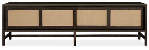 Inspired by Asian design details with a modern edge, the form of our Berkeley media cabinet gracefully bridges classic and contemporary styles. A unique solid wood base, flush sides and distinctive slab pulls are elegant details you'll enjoy every day. Handcrafted by North Dakota woodworkers from solid wood and expertly constructed solid wood veneer, this media cabinet is meant to be an enduring part of your home. The paper cord detailing on the sliding panels is made in Iowa, woven using...